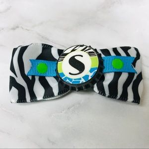 S Initial Name Hair Bow